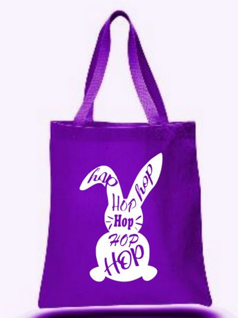 Easter Basket Tote Bags Canvas Colored Bags All Colors Style #3