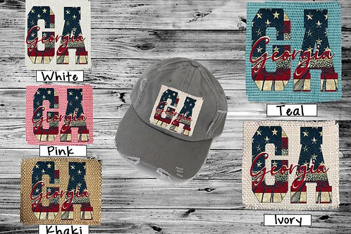 Sublimated Trucker Hats Many Colors Vintage Flag ANY STATE
