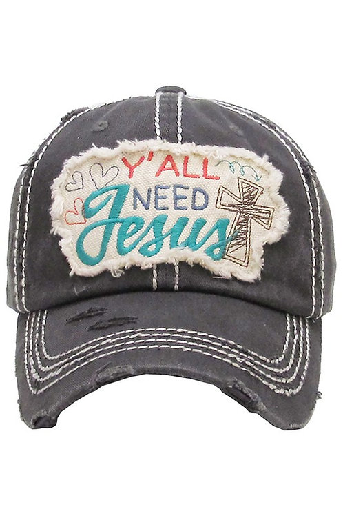 Caps Women's Hat Yall Need Jesus Many Colors