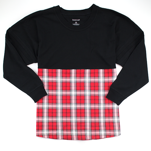 Boxercraft Pom Pom Jersey Adult or Youth Plaid Red/White