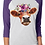 Thumbnail: SUBLIMATED TEE Cow Close Up Flowers