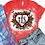 Thumbnail: BLEACHED TEE Short or Long Sleeve Valentine Monogram#1