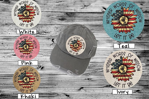 Sublimated Trucker Hats Many Colors Whisper Words of Wisdom Flag
