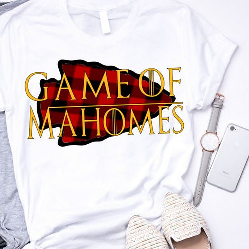 SUBLIMATED TEE Short or Long Sleeve Game of Mahomes