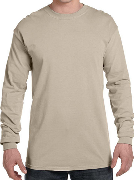 Comfort Colors Unisex Adult Long Sleeve Tee Sandstone