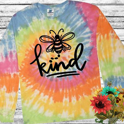 Graphic Tie Dye TEE Long Sleeve Be Kind Eternity