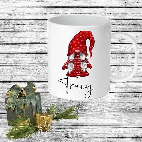 SUBLIMATED Coffee Mug - Gnome ANY NAME