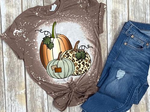 BLEACHED TEE Short or Long Sleeve Patchwork Pumpkins
