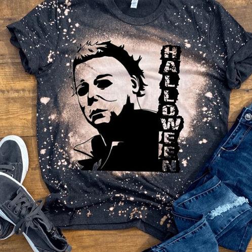 BLEACHED TEE Short or Long Sleeve Michael Myers Halloween