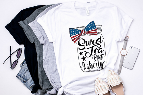 SUBLIMATED TEE Sweet Tea and Liberty
