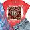 Thumbnail: BLEACHED TEE Short or Long Sleeve Valentine Monogram#3
