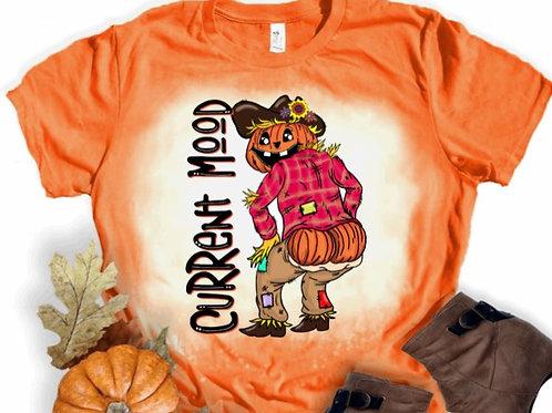 BLEACHED TEE Short or Long Sleeve Halloween Current Mood Pumpkin Head