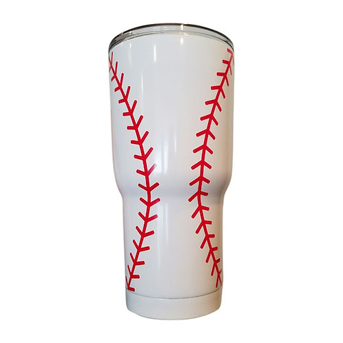 Baseball Tumbler 30 oz Double Wall Stainless Steel Tumbler