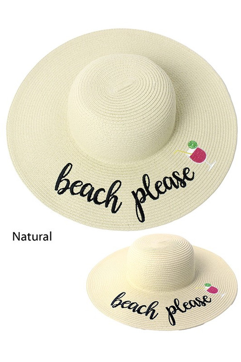 02b738ea Women's Floppy Hat Beach Please Natural