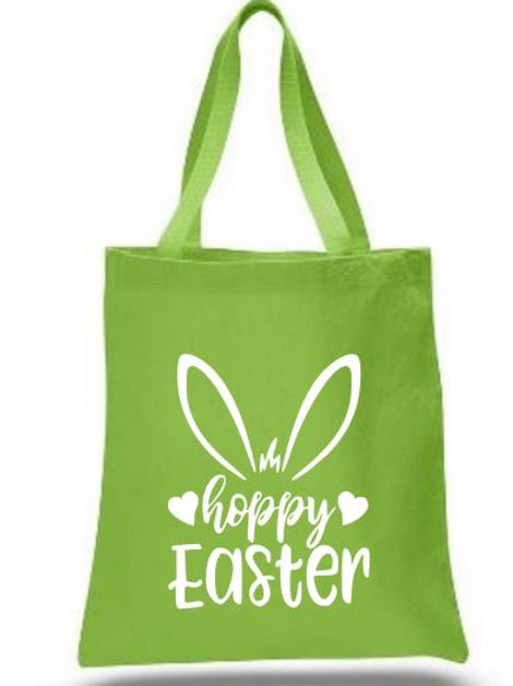 Easter Basket Tote Bags Canvas Colored Bags All Colors Style #5