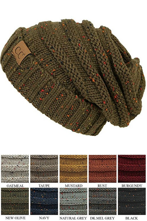 CC Speckled Slouchy Beanie Many Colors