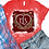 Thumbnail: BLEACHED TEE Short or Long Sleeve Valentine Monogram#6