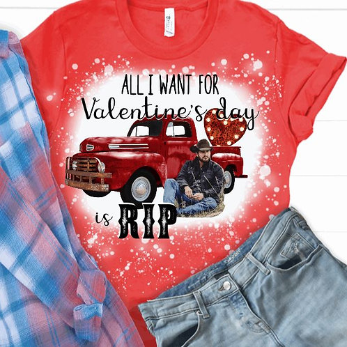 BLEACHED TEE Short or Long Sleeve Valentine RIP