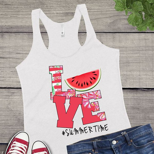 Tank Top SUBLIMATED GRAPHIC SHIRT LOVE Summertime Watermelon