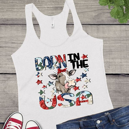 Tank Top GRAPHIC SHIRT Barn in the USA Flowers