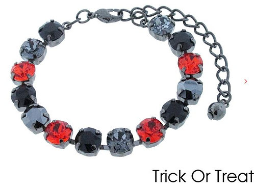 Swarovski Crystal Bracelet 8mm Stones Choose Your Setting Trick or Treat