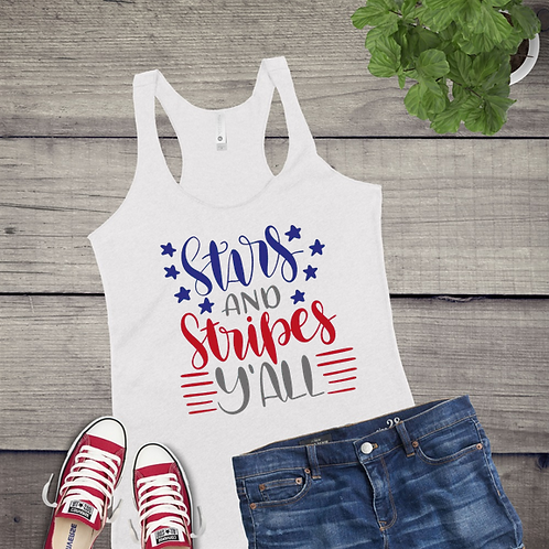 Tank Top GRAPHIC SHIRT Stars and Stripes Yall