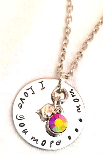 I Love You Mom Necklace