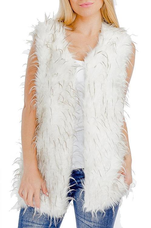 Fur Vest Many Colors