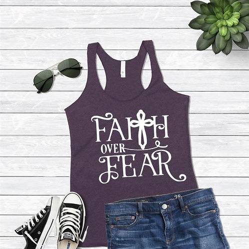 Tank Top GRAPHIC SHIRT Faith Over Fear
