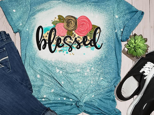 BLEACHED TEE Short Sleeve or Tank Blessed Flowers