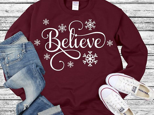 Long Sleeve Bella Christmas Believe