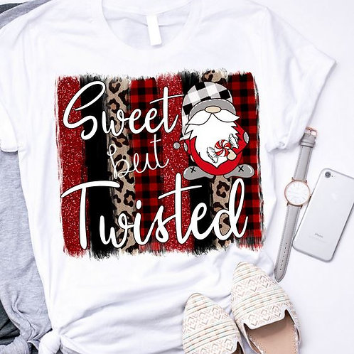 SUBLIMATED TEE Short or Long Sleeve Sweet But Twisted Gnome