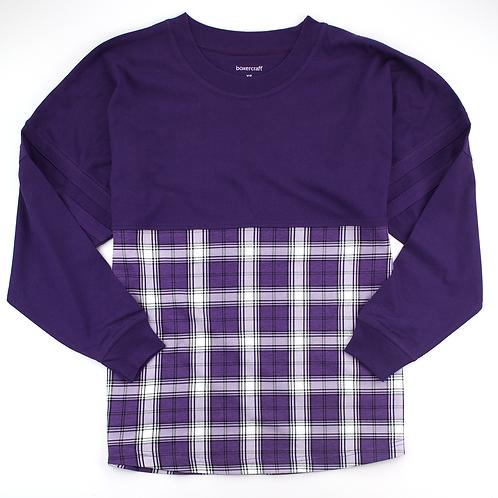 Boxercraft Pom Pom Jersey Adult or Youth Plaid Purple/White