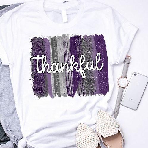 SUBLIMATED TRANSFER ONLY Thankful Backsplash Purple Silver