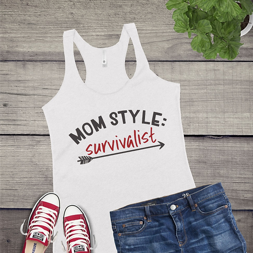 Tank Top GRAPHIC SHIRT Mom Style Survivalist
