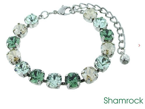 Swarovski Crystal Bracelet 8mm Stones Choose Your Setting Shamrock