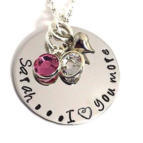 Personalized Name I Love You More Necklace or Bracelet