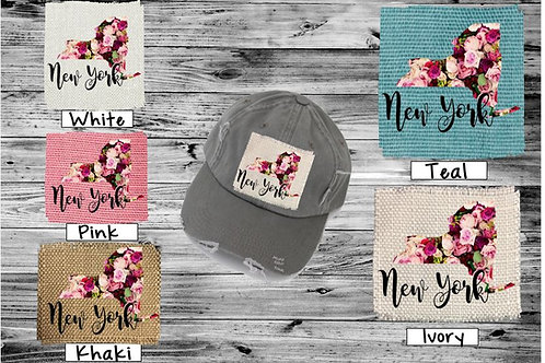 Sublimated Trucker Hats Many Colors Roses ANY STATE