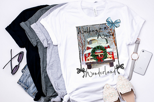 SUBLIMATED TEE Short or Long Sleeve Walking in a Winter Wonderland