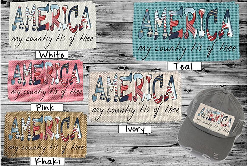 Sublimated Trucker Hats Many Colors America My Country Tis of Thee