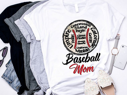 SUBLIMATED TRANSFER ONLY Baseball Mom Concession Stand