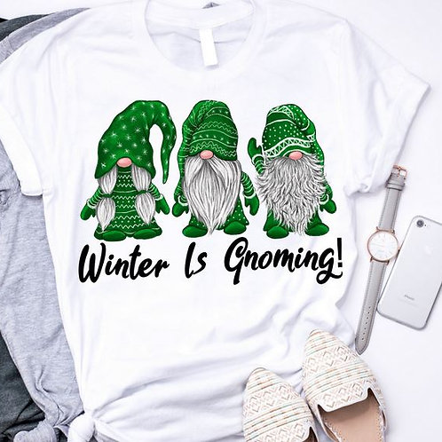 SUBLIMATED TRANSFER ONLY Winter is Gnoming Green