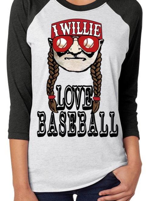 SUBLIMATED RAGLAN Willie Love Baseball