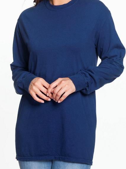 Comfort Colors Unisex Adult Long Sleeve Tee True Navy