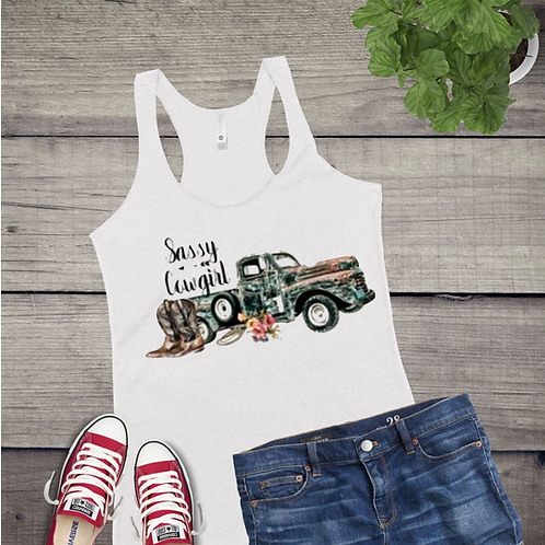 Tank Top GRAPHIC SUBLIMATED SHIRT Sassy Cowgirl