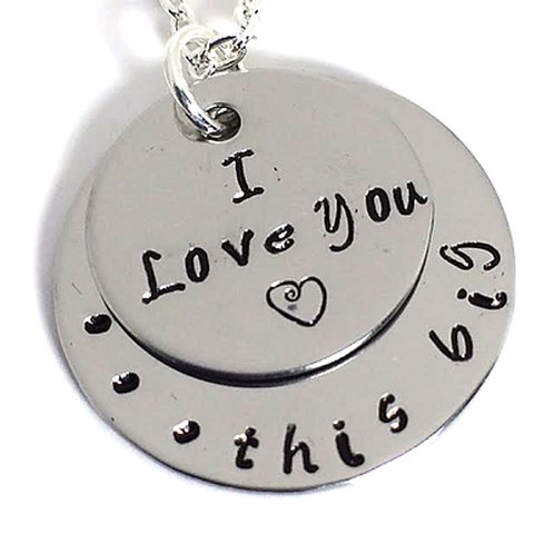 I Love You This Big Necklace