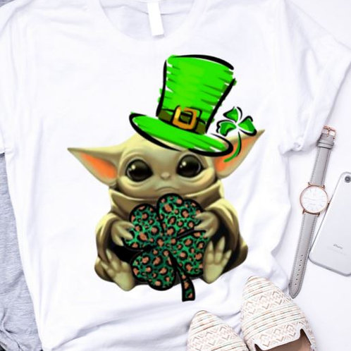 SUBLIMATED TRANSFER ONLY St. Pattys Baby Yoda