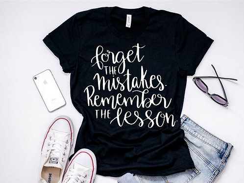 SHORT SLEEVE GRAPHIC TEES SHIRT Remember the Lessons