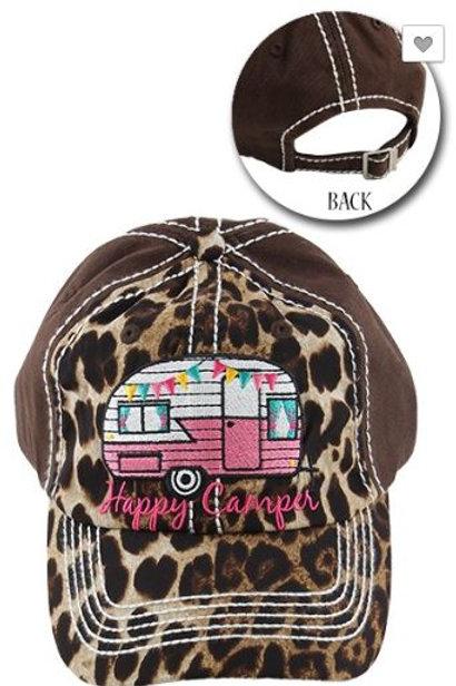 Happy Camper Leopard Caps Women's Hat