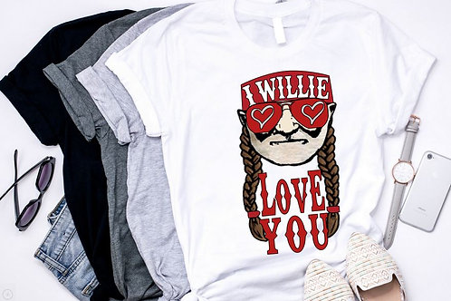SUBLIMATED TEE Short or Long Sleeve Willie Love You